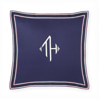 Monogram Grosgrain Flance Decorative Cotton Throw Pillow