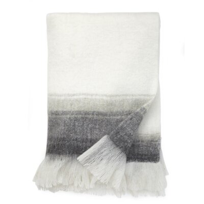 Brighton Ombre Throw Blanket Color: Dove