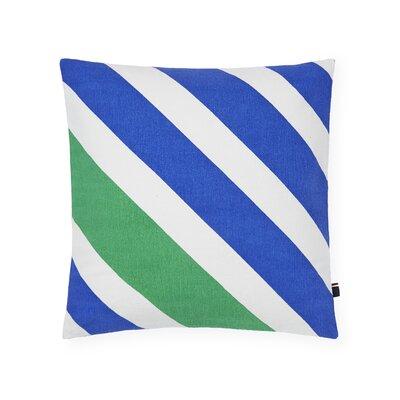 Diagonal Cotton Throw Pillow