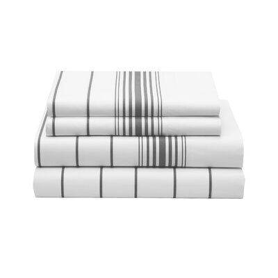 Buckaroo Stripe 200 Thread Count Sheet Set Size: Queen
