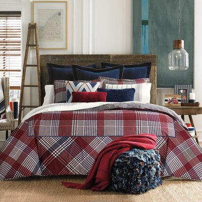 3-Piece Buckaroo Plaid Comforter Set by Tommy Hilfiger Size: Queen