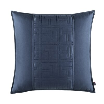 TH Academy Decorative Cotton Throw Pillow Color: Navy