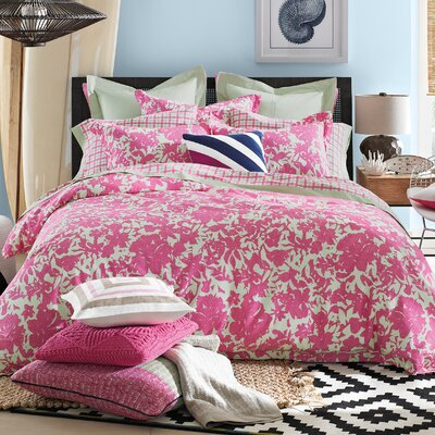 Palm Springs Comforter Set Color: Pink, Size: King
