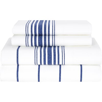 Baja 200 Thread Count Sheet Set by Tommy Hilfiger Size: Queen