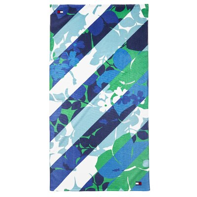 Hibiscus Stripe Beach Towel