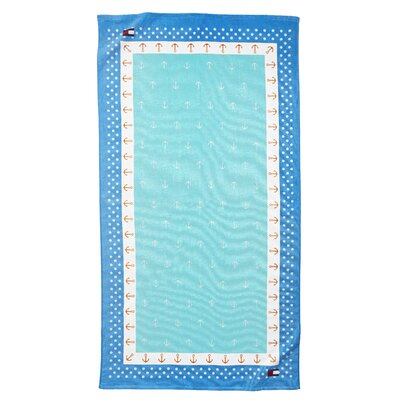 Anchor Polka Dot Beach Towel