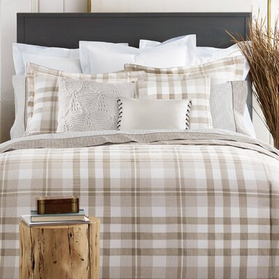 Range Plaid 100% Cotton 2 Piece Reversible Comforter Set Size: King
