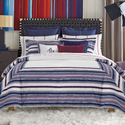 Sutton Stripe Duvet Cover Size: King