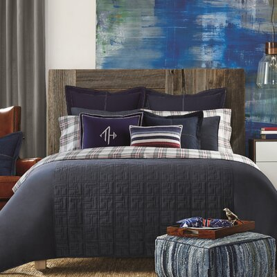 TH Academy Comforter Color: Navy, Size: King