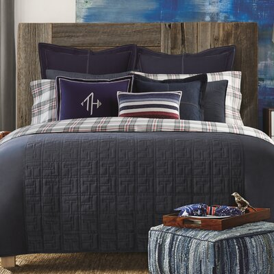 TH Academy Duvet Cover Color: Navy, Size: King