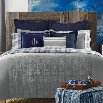 TH Academy Duvet Cover Size: King, Color: Gray