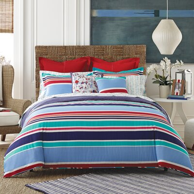 Dunmore Stripe Comforter Set Size: Full/Queen