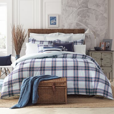 Surf Plaid Comforter Set Size: King
