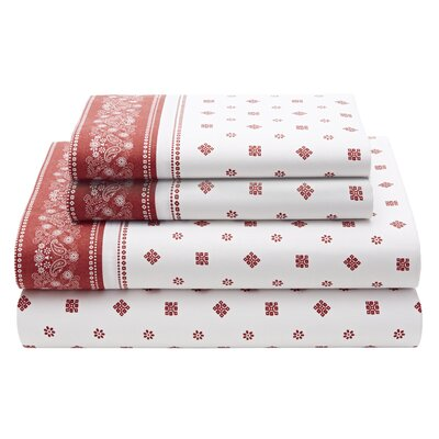 Timeless Plaid Bandana Scarf Sheet Set Size: Twin