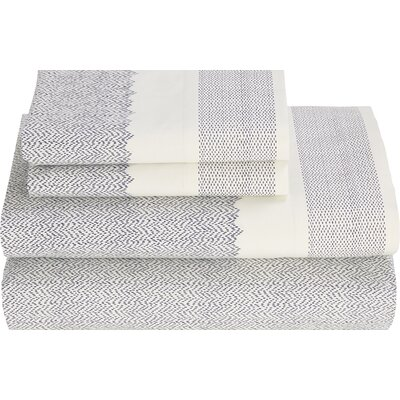 Monterey Indigo 180 Thread Count Sheet Set Size: Full