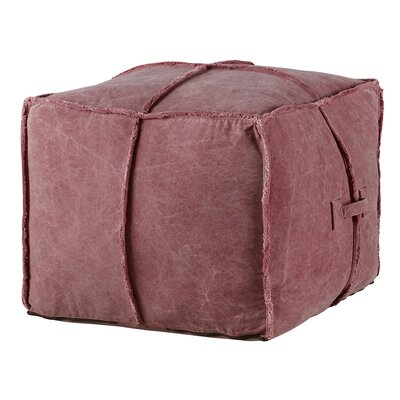 Doron Pouf Finish: Red
