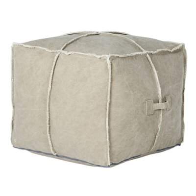 Doron Square Pouf Ottoman Finish: Tan