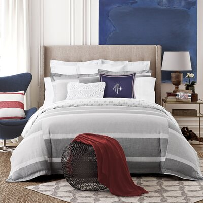 Woodford Stripe Reversible Duvet Cover Set Size: Twin