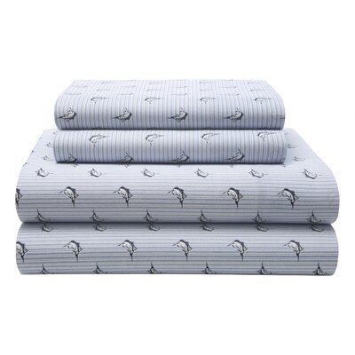 Marlin Stripe 180 Thread Count Sheet Set Size: Full