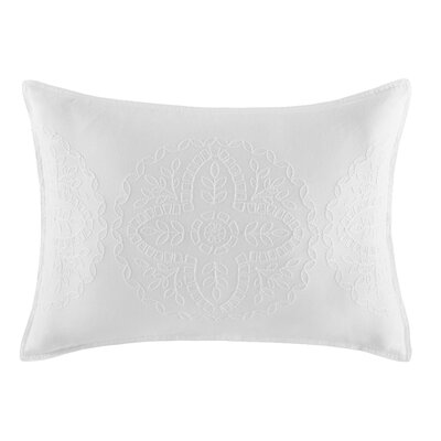 Floral Medallion 100% Cotton Lumbar Pillow