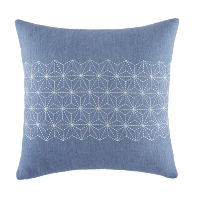 Geo Stitched 100% Cotton Throw Pillow