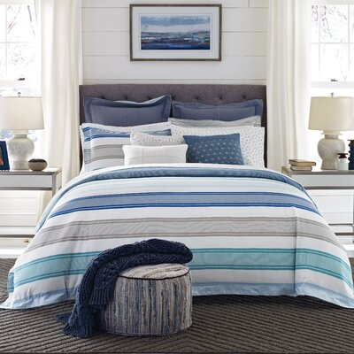 Westbourne Stripe Reversible Comforter Set Size: Twin/Twin XL