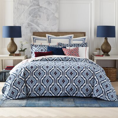 Ellis Island Ikat Duvet Cover Set Size: Full / Queen