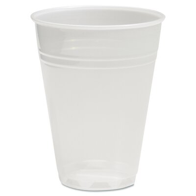 "Translucent Plastic Hot/Cold Cups, (Carton of 2,500) Size: 14.96"" H x 14.96"" W x 22.84"" D BWKTRANSCUP5CT"
