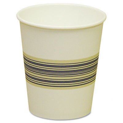 Paper Hot Cups, Blue & Tan, 20 Bags of 50, 1000/Carton, Various Sizes BWK10SQHOTCUP