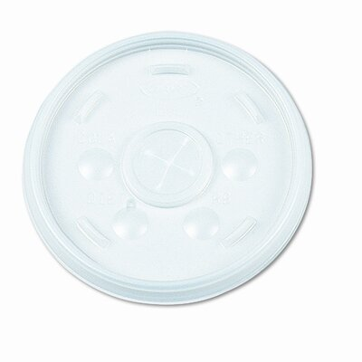 Plastic Lids, for 12-oz. Hot/Cold Foam Cups, Slip-Thru Lid, White, 1000/CT DCC12SL