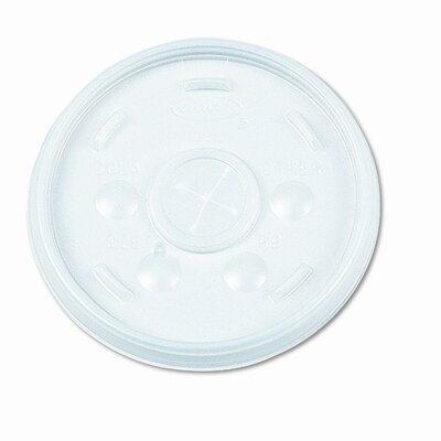 Plastic Lids, for 16-oz. Hot/Cold Foam Cups, Slip-Thru Lid, White, 1000/CT DCC16SL