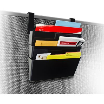Wall File with Partition Hanger Size: 7 H x 16 W x 4 D