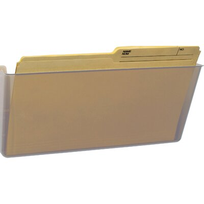 Wall File Color: Clear, Size: 7 H x 16 W x 4 D