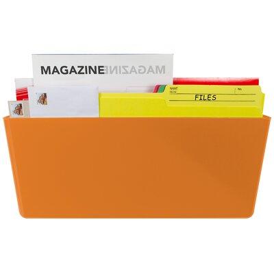 Magnetic Wall Pocket Color: Orange