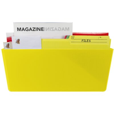 Magnetic Wall Pocket Color: Yellow