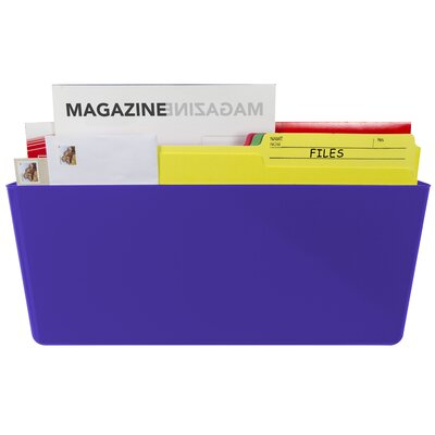 Magnetic Wall Pocket Color: Purple