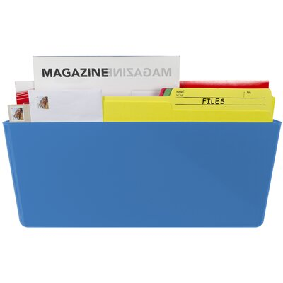 Magnetic Wall Pocket Color: Blue