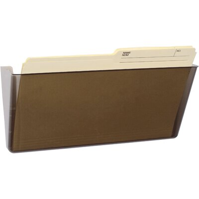 Wall File Color: Smoke, Size: 7 H x 16 W x 4 D