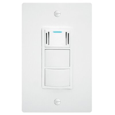 WhisperControl Condensation Sensor with Light Switch Finish: White