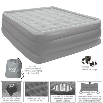 Full Raised Flock Top Air Bed