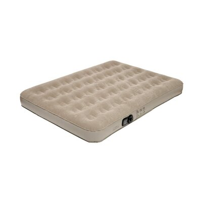 Full Low Profile Suede Top Air Bed with Built in Pump