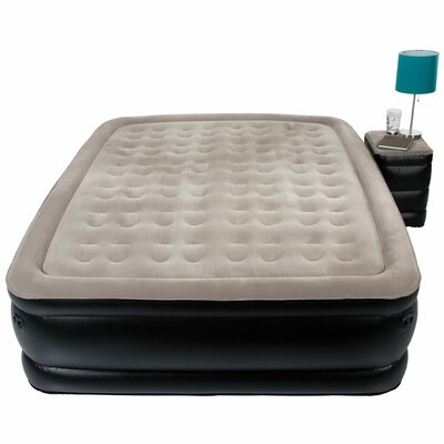 Sharper Image Queen Side Table and Accessory Pocket Raised Air Bed