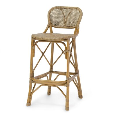 Jordan 24 inch Bar Stool Finish: Honey