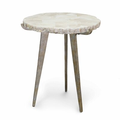 Easton Fossilized Clam End Table