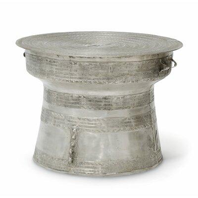 PierceMartin Rain Drum Coffee Table Finish: Silver