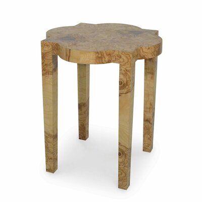Olive Burl Geo End Table