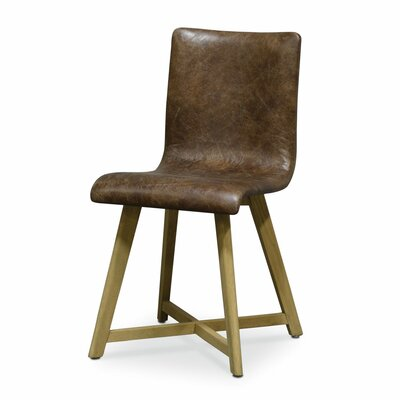 Ace Genuine Leather Upholstered Dining Chair