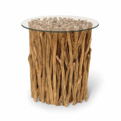 Driftwood Bundle Stick End Table