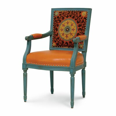 Lyon Square Back Arm Chair Finish: Sunset