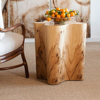 Olive Ash Burl Veneer End Table
